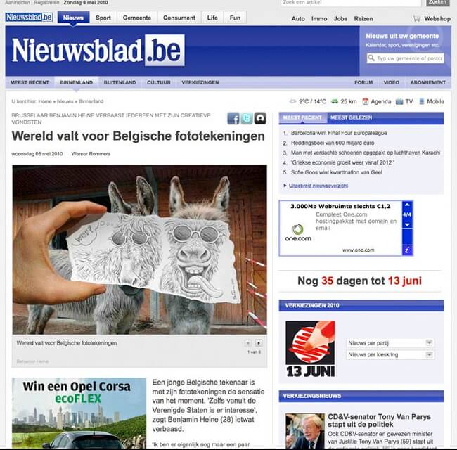 Nieuwsblad 1 Belgium Ben Heine Content Creation Art