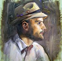 Portrait of Ben Heine (oil painting) 2014
