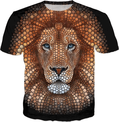 lion-digital-circlism-design-by-ben-heine-buy-t-shirts-and-other-great-hoodies