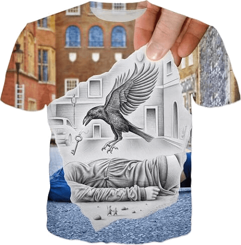 pencil-vs-camera-crow-design-by-ben-heine-buy-t-shirts-and-other-great-hoodies