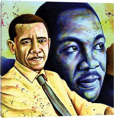 Obama And L. King - Canvas Print