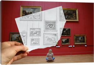 Pencil vs. Camera - 7 - Canvas Print