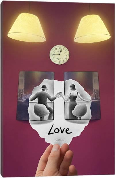 Pencil vs. Camera - Love - Canvas Print