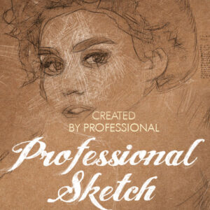 Drawing - Sketch - Photoshop actions and brushes - effects plugins - ben heine - fix the photo