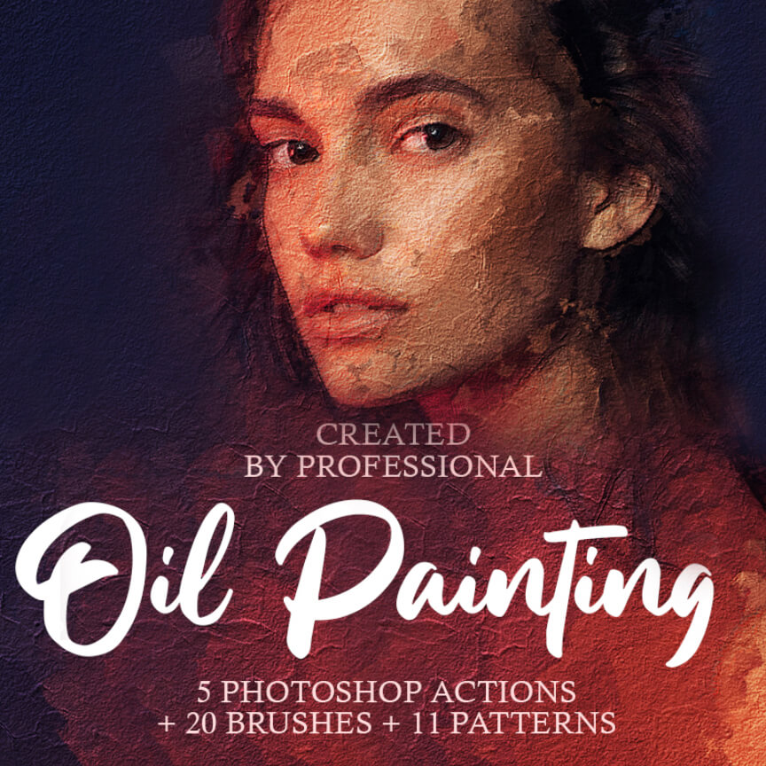 Oil Painting - Sketch - Photoshop actions and brushes - effects plugins - ben heine - fix the photo