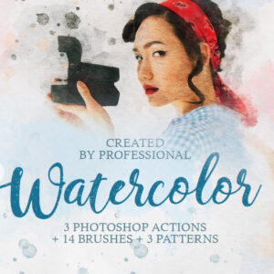 Watercolor photoshop actions and brushes - effects plugins - ben heine - fix the photo