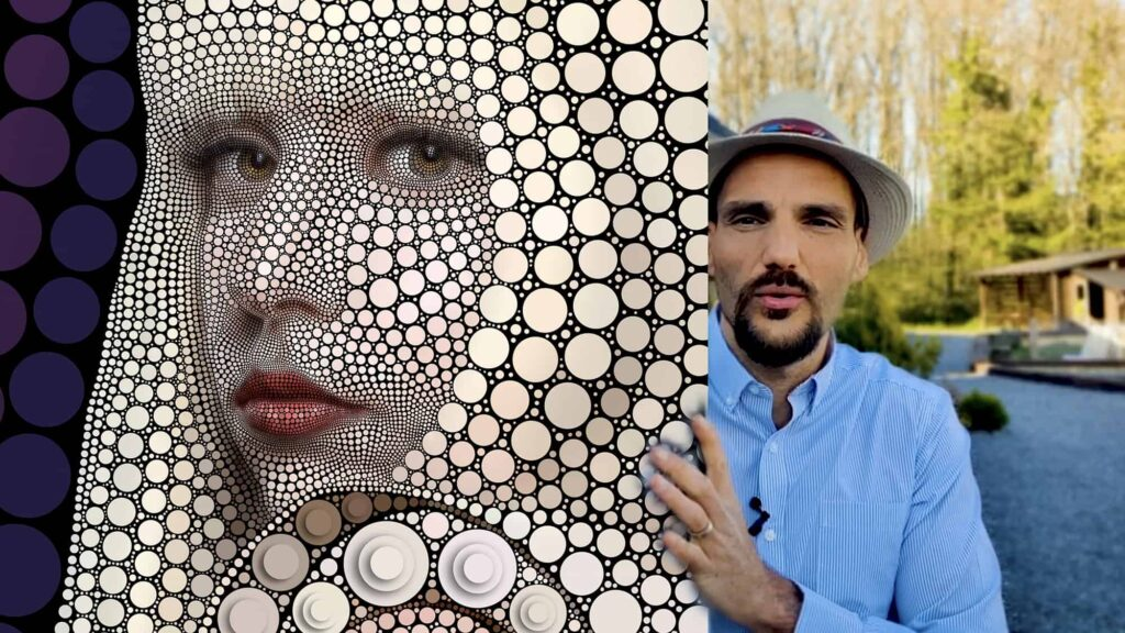 Image 13 - Art Movement Digital Circlism - ben heine art Print 3D effect copy