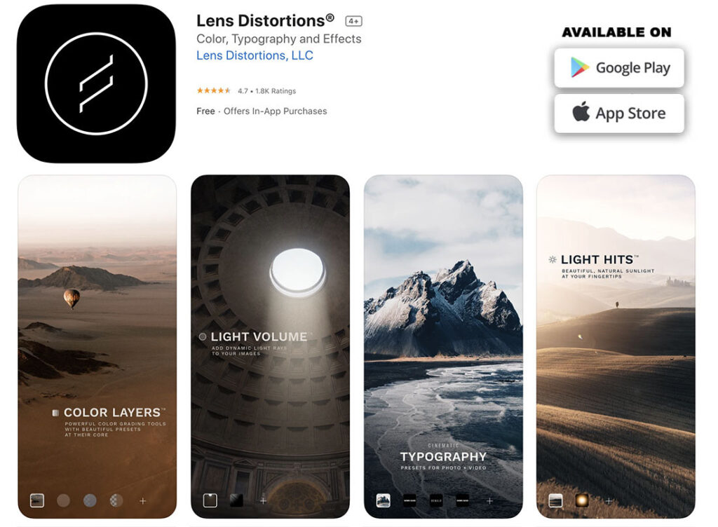 Image 14 - Lens Distortion - free and paid mobile apps to retouch, edit and enhance your photos copie