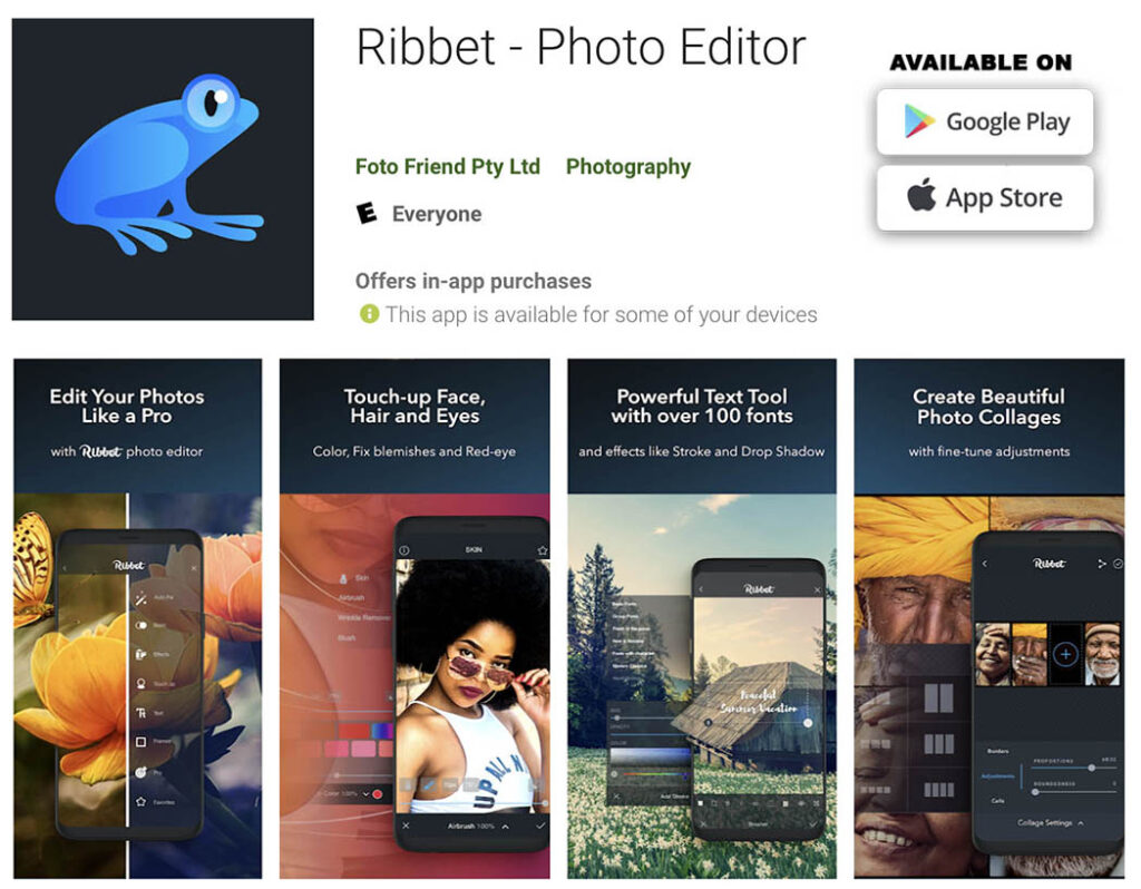 Image 19 - Ribbet - mobile apps to retouch, edit and enhance your photos copie