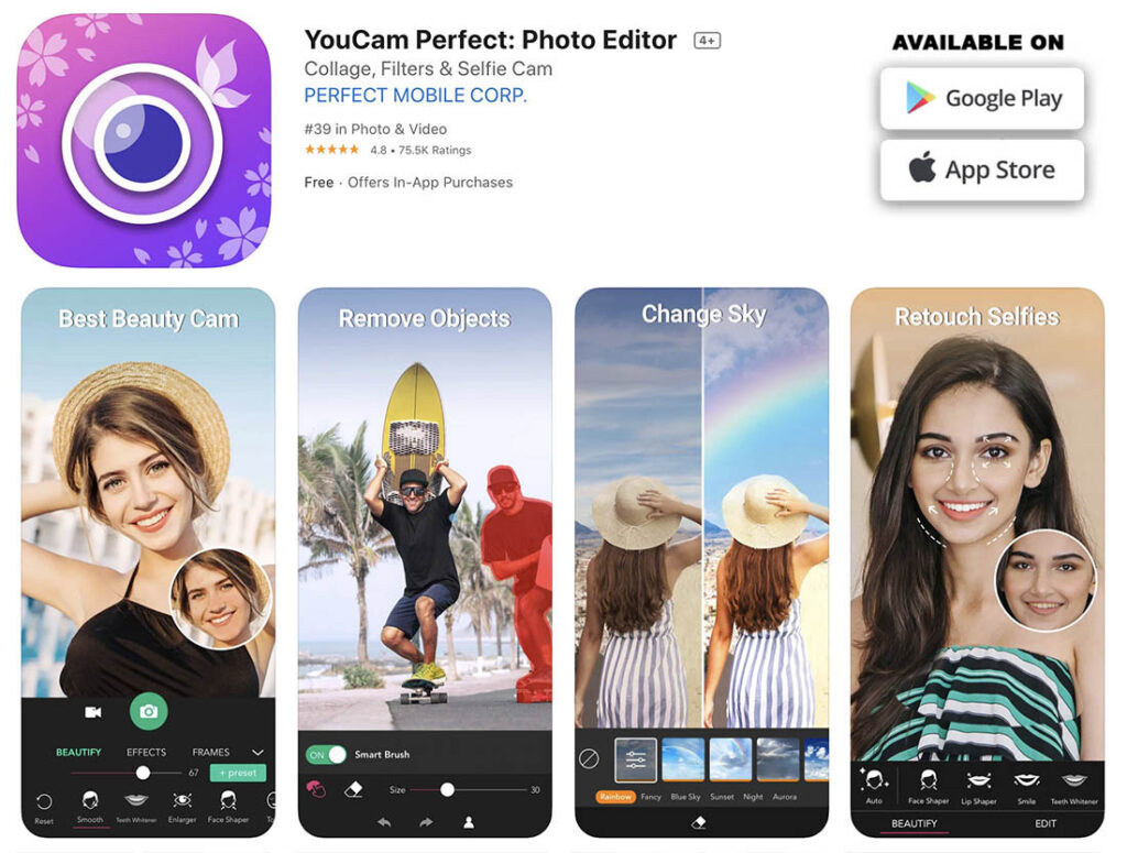 Image 21 - YouCam perfect - mobile apps to retouch, edit and enhance your photos bis