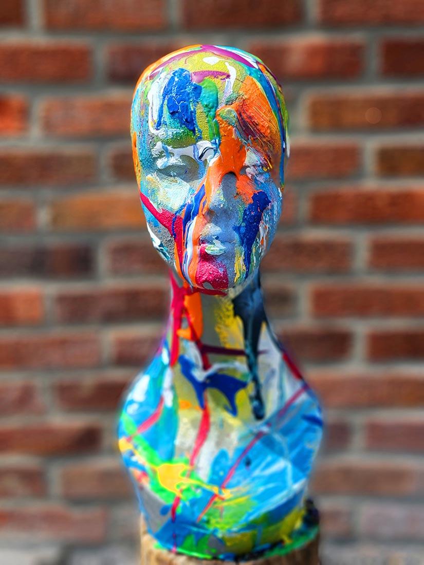 Painted Busts - Ben Heine Art Sculpture - Buy Art - Home Deco